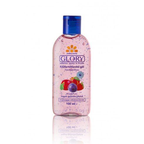 Glory Kézfertőtlenítő gél vegyes gyümölcs illattal 100 ml