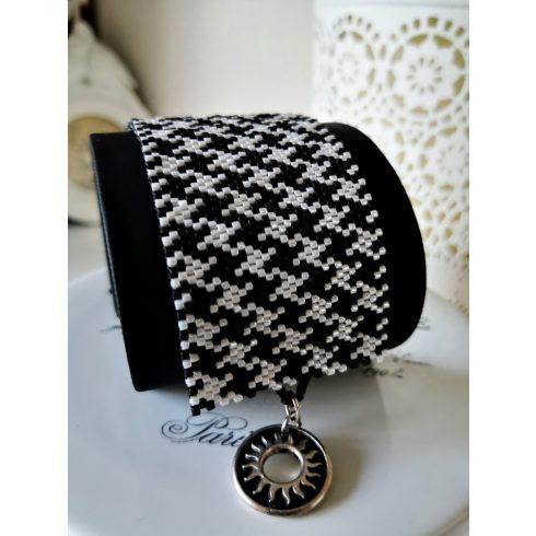 Peyot karkötő - fekete/fehér