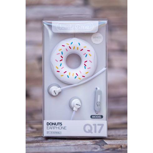 Fehér Donut fülhallgató, headset