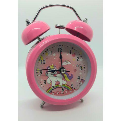 Unikornis gyerek ébresztőóra - rózsaszín