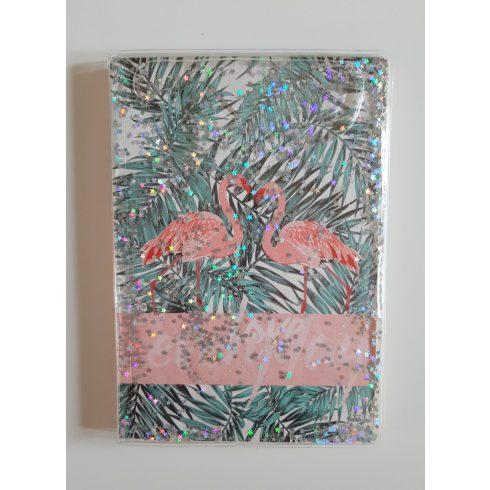 """""""Flamingó"""" notesz csillámmal"""