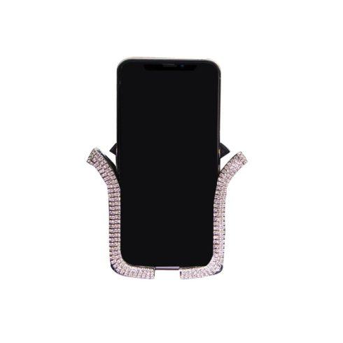 Univerzális autós telefontartó - ezüst