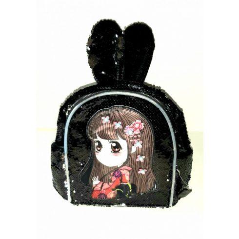 Világítós flitteres kislány nyuszifüles hátizsák többféle színben