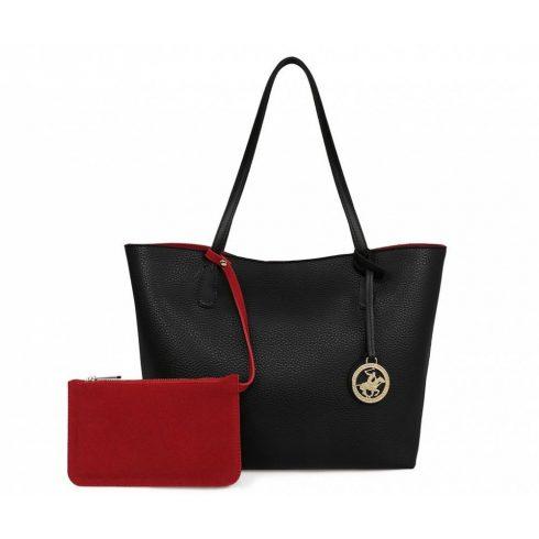 Beverly Hills Polo Club Vanessa fekete- piros táska