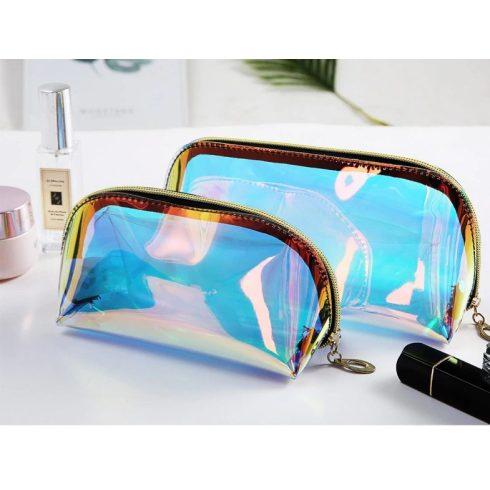 Holografikus kozmetikai táska két méretben